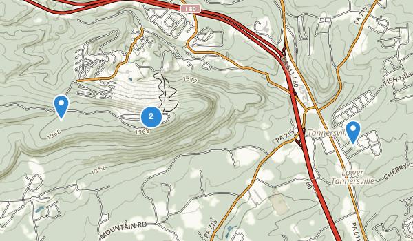 trail locations for Big Pocono State Park