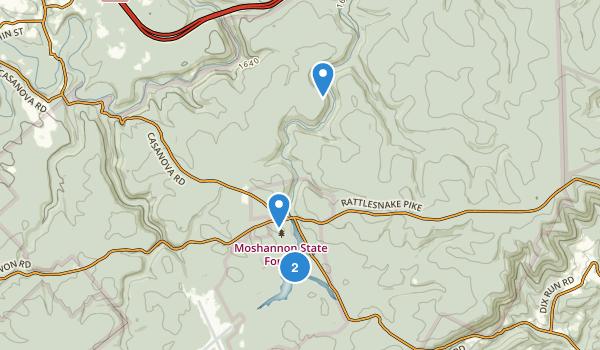 Black Moshannon State Park Map