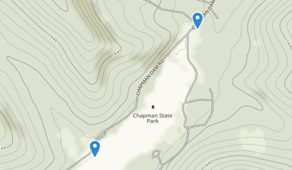 trail locations for Chapman State Park