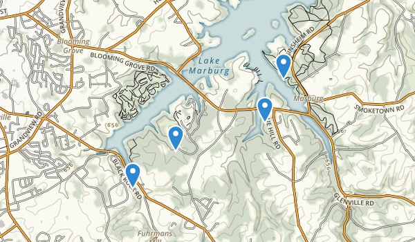 trail locations for Codorus State Park