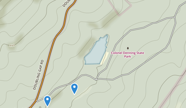 trail locations for Colonel Denning State Park