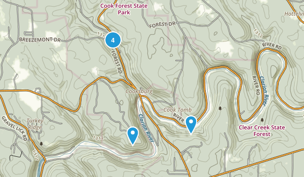 Cook Forest State Park Map