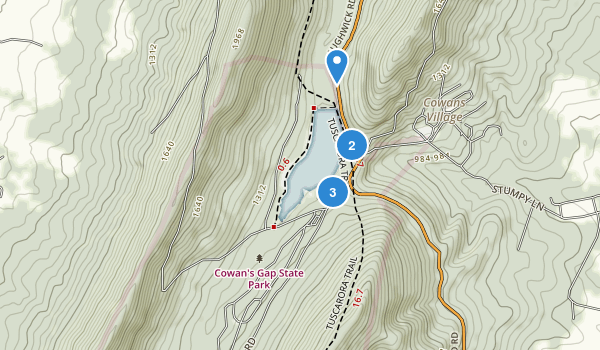 Cowans Gap State Park Map