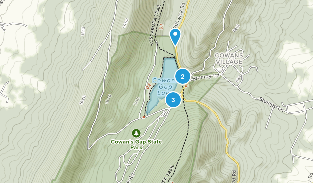 Cowans Gap State Park Map