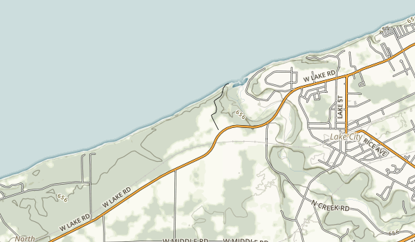 Erie Bluffs State Park Map
