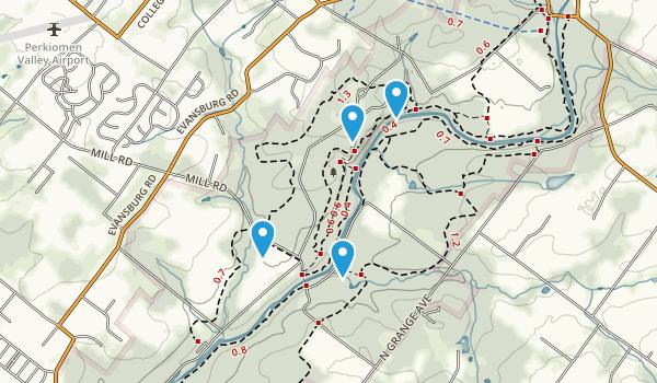 Evansburg State Park Map