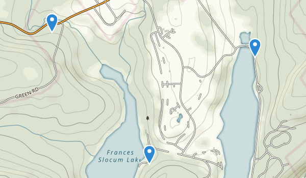 trail locations for Frances Slocum State Park
