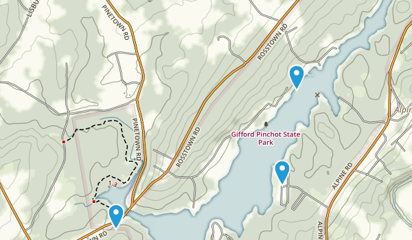 Gifford Pinchot State Park Map