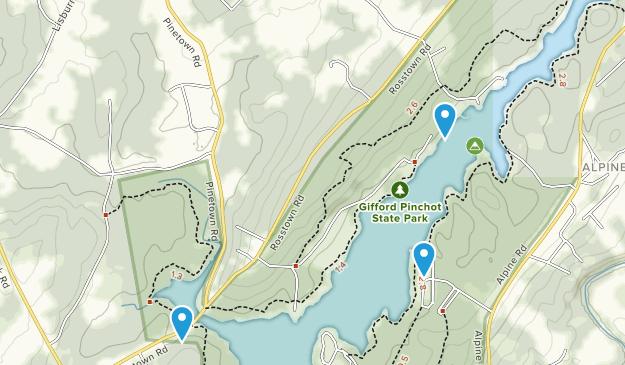 Gifford Pinchot State Park Map