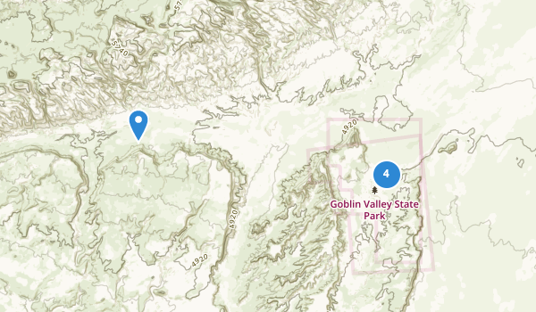 trail locations for Goblin Valley State Park