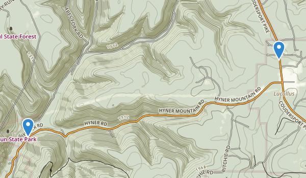 Hyner Run State Park Map
