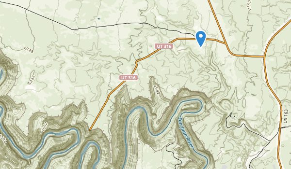 trail locations for Goosenecks State Park