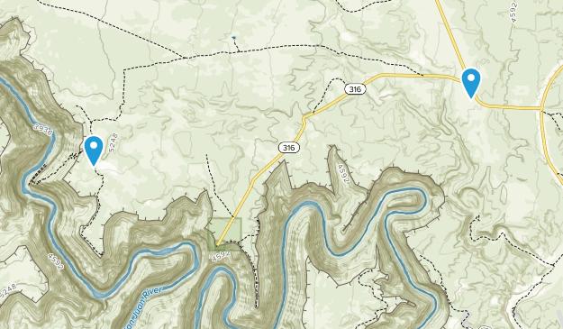 Goosenecks State Park Map