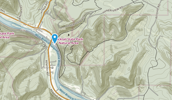 Hyner View State Park Map