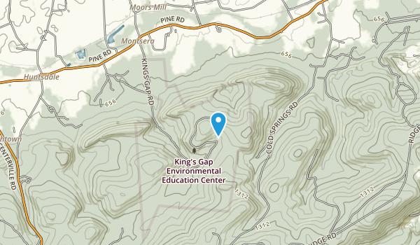 Kings Gap Environmental Education Center Map