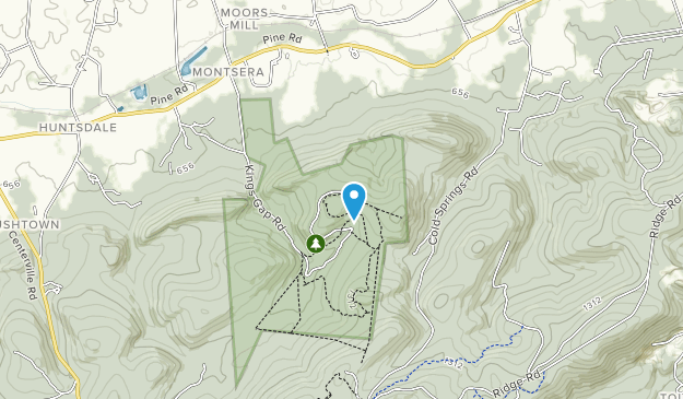 Kings Gap Environmental Education Center Map