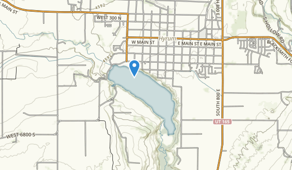 trail locations for Hyrum State Park