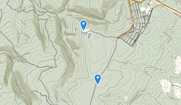 trail locations for Laurel Mountain State Park