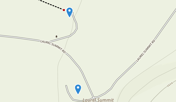 trail locations for Laurel Summit State Park