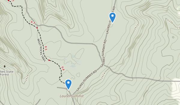 Laurel Summit State Park Map