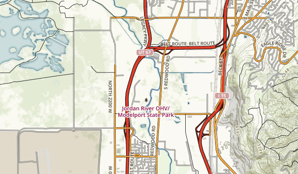 Jordan River Off-Highway Vehicle Park Map