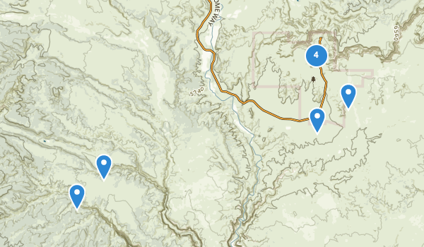 trail locations for Kodachrome Basin State Park