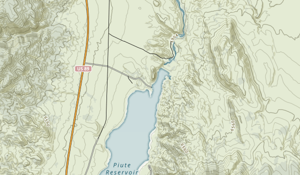 Piute State Park Map