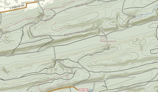 McCalls Dam State Park Map