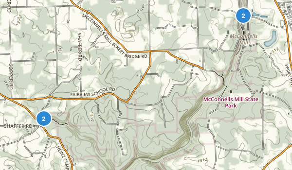 McConnells Mill State Park Map