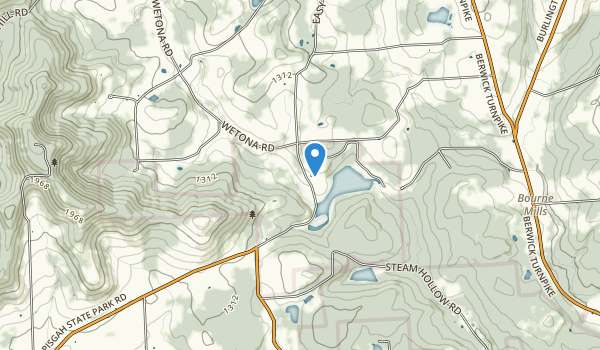 trail locations for Mt. Pisgah State Park