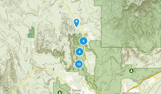 Snow Canyon State Park Map