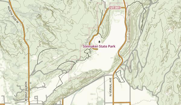 Steinaker State Park Map