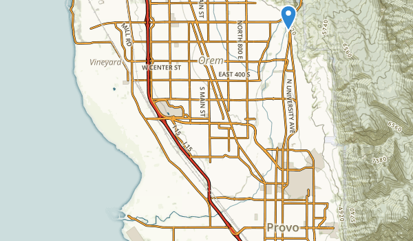 trail locations for Utah Lake State Park