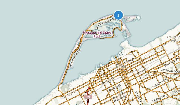 Presque Isle State Park Map