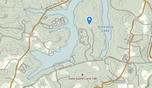 trail locations for Prince Gallitzin State Park