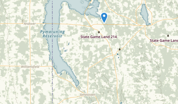 trail locations for Pymatuning State Park