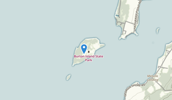 trail locations for Burton Island State Park