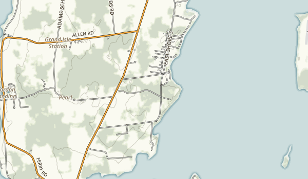 Grand Isle State Park Map