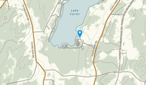 Lake Carmi State Park Map