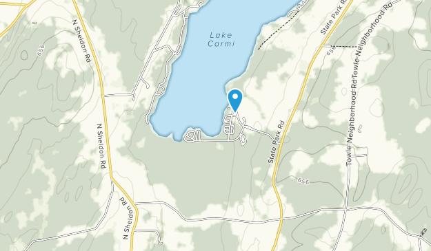 Lake Carmi State Park Map