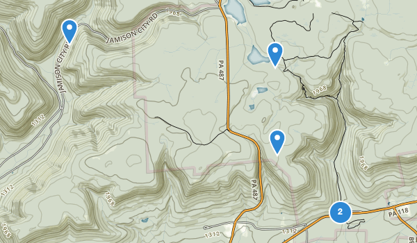 trail locations for Ricketts Glen State Park