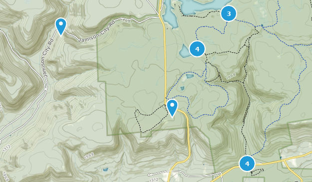Ricketts Glen State Park Map