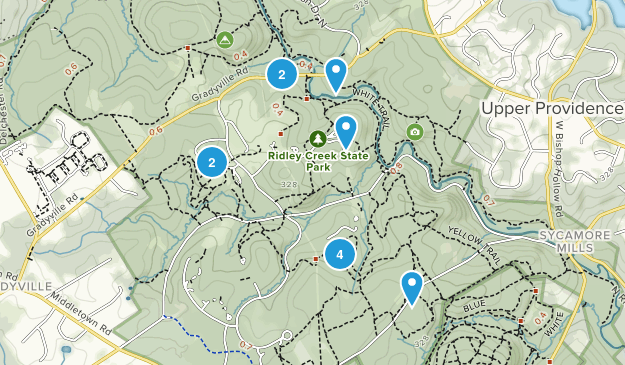 Ridley Creek State Park Map