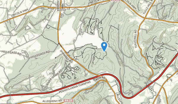 trail locations for Shawnee State Park