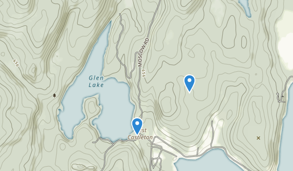 trail locations for Bomoseen State Park
