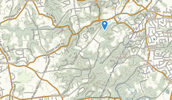 White Clay Creek Preserve Map