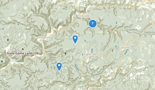 trail locations for Worlds End State Park