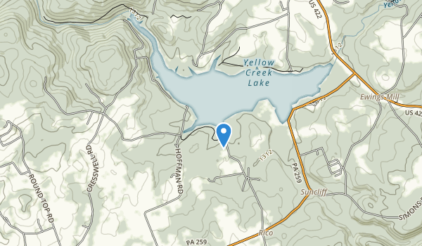 trail locations for Yellow Creek State Park