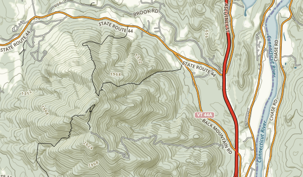 Mt. Ascutney State Park Map