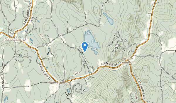 trail locations for Lowell Lake State Park